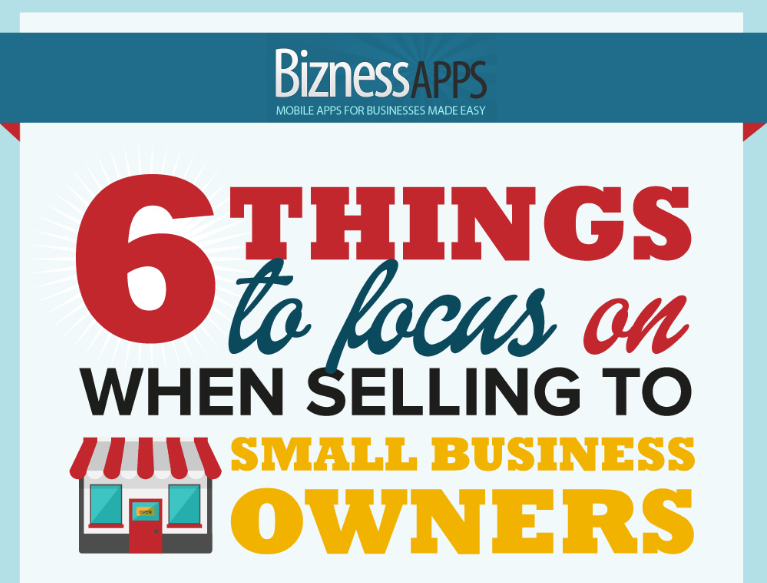 How To Sell To Small Businesses  Infographic    Bizness Apps